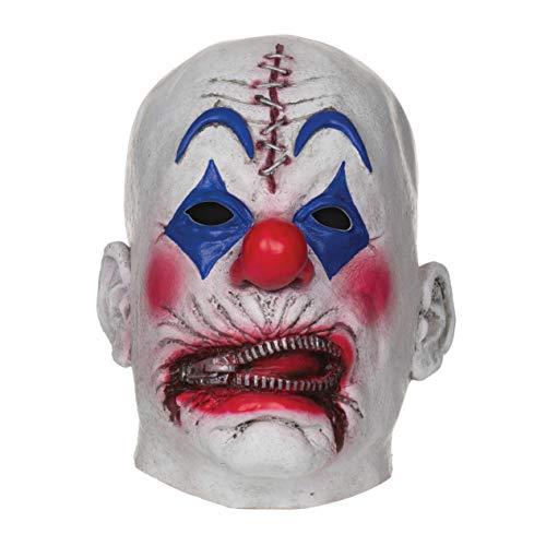 Bristol Novelty - Máscara de payaso de terror con cremalleras para halloween (Tamaño Único)...