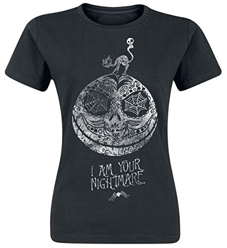 Pesadilla Antes De Navidad Jack Skellington - I Am Your Nightmare Mujer Camiseta Negro M