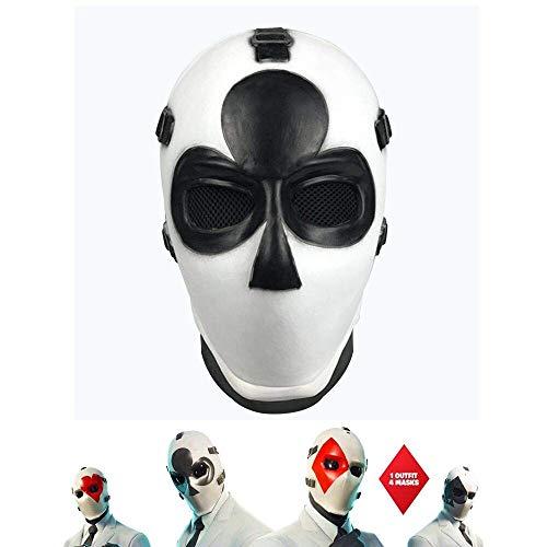 Vercico Poker Máscara de Carnaval de Navidad d'Año Nuevo de Halloween Máscara de Cabeza con Tema...