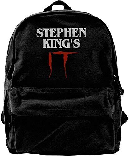 Mochila de Lona Thriller Película de Terror Stephen King 's It Clown Joker Pennywise Mochila...