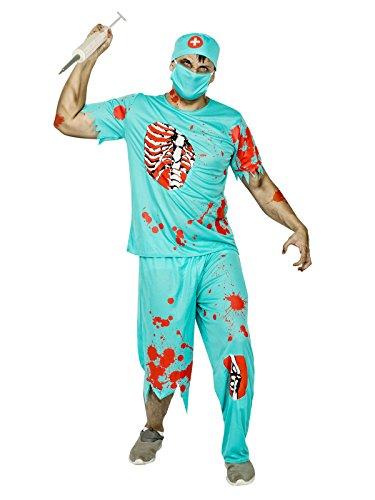 Atosa 22681 Disfraz doctor sangriento adulto M-L, talla hombre