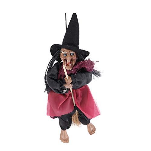 IMIKEYA Bruja Colgante de Halloween, Bruja de inducción activada por Voz, Accesorios de Broma...