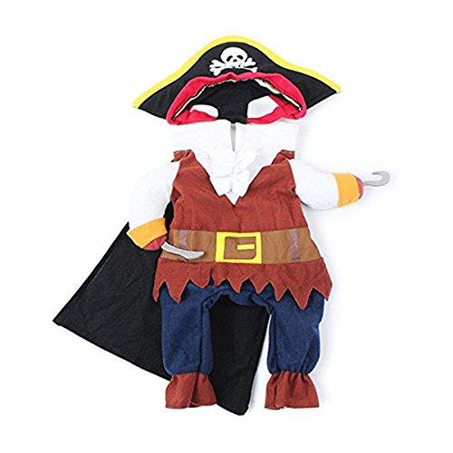 UEETEK Traje de Traje de Mascotas, Funny Cool Caribbean Pirate Pet Traje de Navidad de Halloween con...