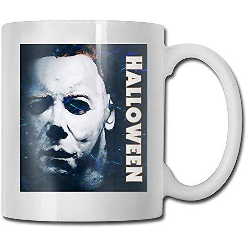 Halloween Michael Myers Taza de café Taza de cerámica Regalo para hombres y mujeres que aman las...