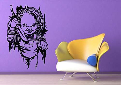 Vinilo decoratívo Chucky,Cine,TV,Terror,música,Marca KIVIKE,habitación de los niños,decoración...