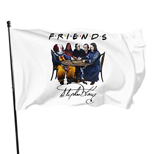 MaoMaoYongHui 3x5 Foot Flag Stephen King Friends.webp Flag Color Vivo y Resistente a la...