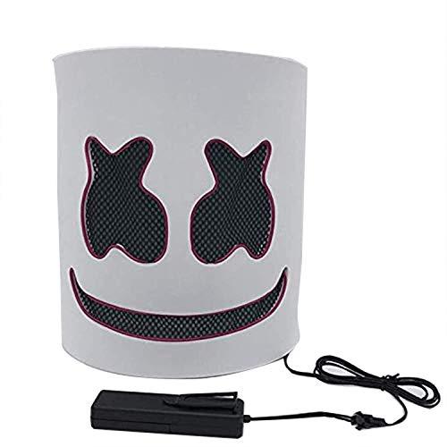 Cozywind Halloween Máscara LED para Cosplay,DJ, Fiestas, Festivales, Disfraces, Máscaras de Cabeza...