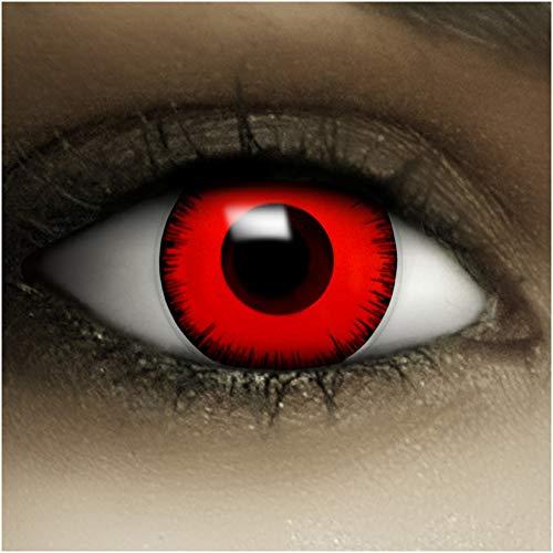 Lentillas de color'Volturi' + cápsulas de sangre artificial + recipiente de FXContacs en blanco,...