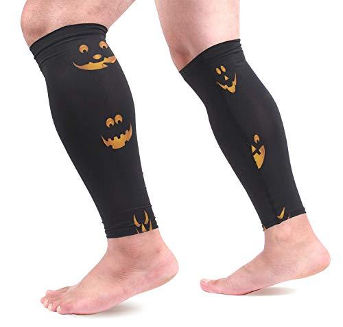 Bgejkos Calabazas de Halloween Mangas de compresión para pantorrillas Protectores de pierna con...