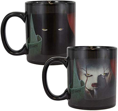 Paladone Pennywise Taza de café y té de color caliente, bebidas sensibles, color y diseño que...