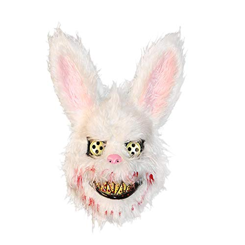 TOOGOO MáScara de Halloween MáScara de Conejo Asesino Sangriento MáScara de Halloween Cosplay...