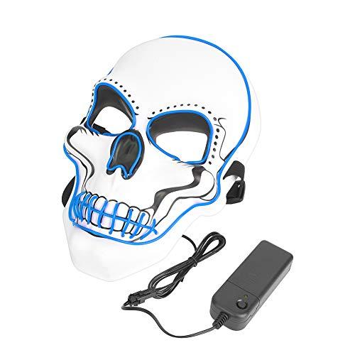 Tbest Máscara aterradora, Payaso Máscara traviesa Divertida Que Brilla intensamente Máscara de...