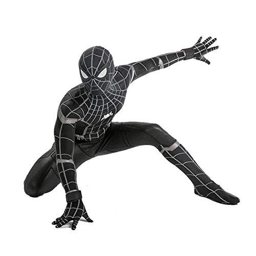 Disfraz De Spiderman Negro Disfraz De Adulto Para Niño Disfraz De Mono Con Estampado 3D Medias...