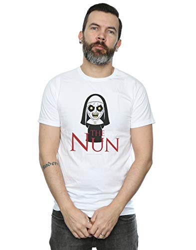 The Nun Hombre Chibi Scare Camiseta Blanco XXX-Large