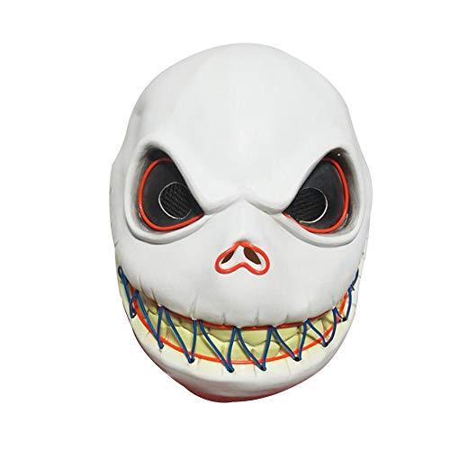 Rrunzfon Esqueleto Jack máscara de Miedo Esqueleto Máscara Cosplay Luminoso de la Novedad del...