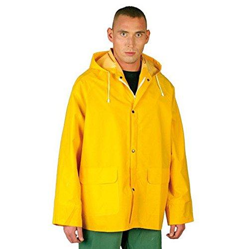 Chubasquero de policloruro de vinilo (PVC) impermeable, Moderno, Unisex adulto, color amarillo,...