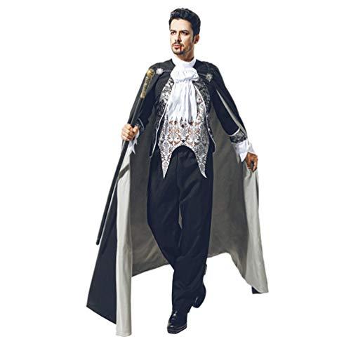 YuanDian Halloween Hombre Disfraces De Vampiro Dracula Capa Pantalones Conjuntos Terror Faciles...