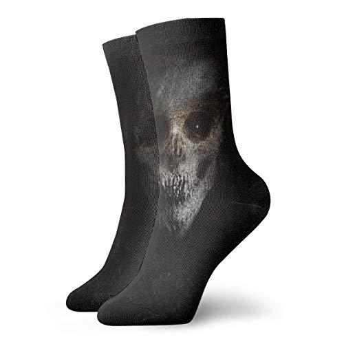 Calcetines para mujer y hombre, calcetines para mujer, terror, con fondo de Spooky Monster, 30 cm