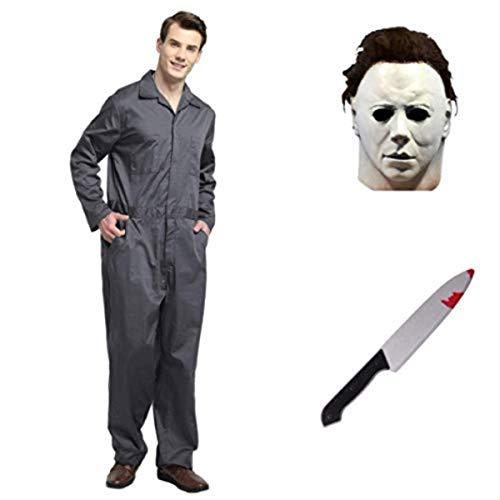 thematys® Juego de Disfraces de películas de Terror de Michael Myers con máscara y Cuchillo en 5...