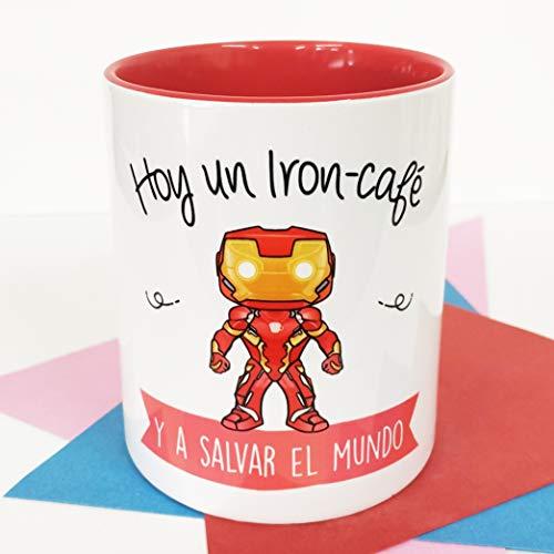 La Mente es Maravillosa - Taza con Frase y dibujo. Regalo original y gracioso (Hoy un Iron-café y a...