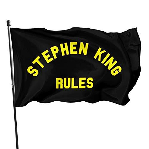 GYUB Step-Hen Ki-ng Reglas Bandera de 3 por 5 pies con Ojales