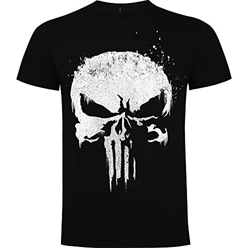 Foreverdai Camiseta Fan Art Inspirada en The Punisher de Netflix (L)