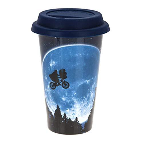 E.T. Ir a la taza del viaje Taza de la película 250 ml de silicona azul de cerámica