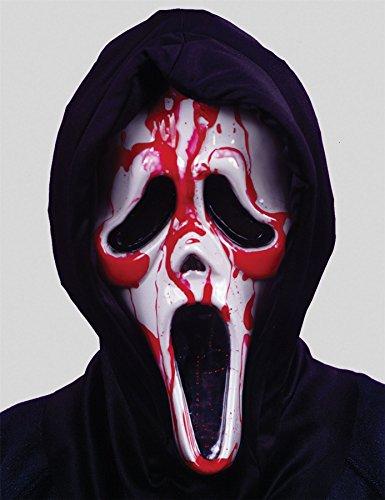 SHATCHI - Máscara de sangrado para Halloween, diseño de fantasma, talla única, color rojo