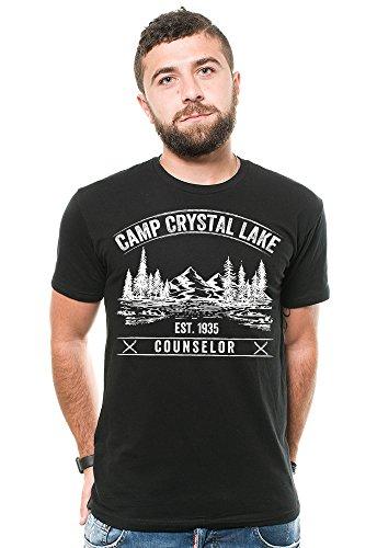 Silk Road Tees Viernes 13 de Camp Crystal Lake Camiseta de los Hombres del Consejero del Campo...