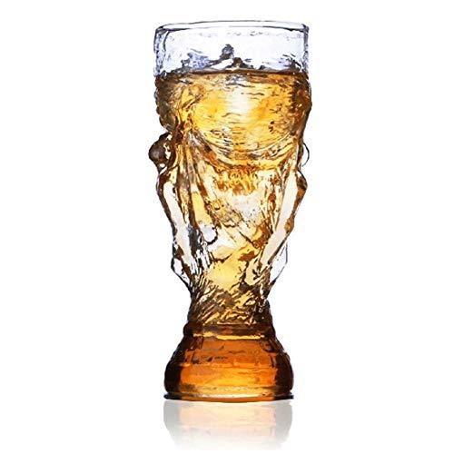 Jugo vasos de vino gótico novedad de la manera creativa de fútbol tazas de vidrio de 300 ml Bar...