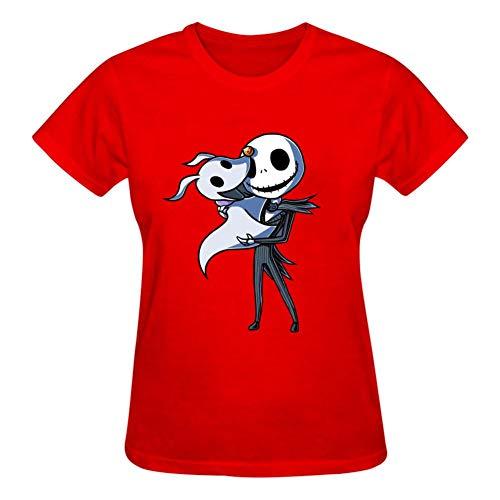 YFFHHH - Camiseta de manga corta con cuello redondo y cuello redondo para mujer, diseño de...