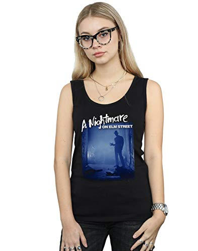 A Nightmare On ELM Street Mujer Freddy Is Waiting Camiseta Sin Mangas Negro X-Large