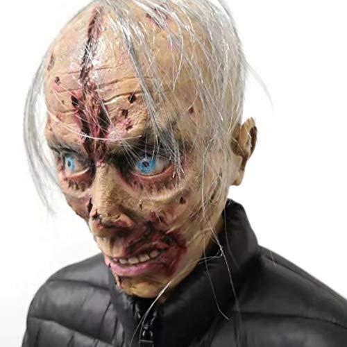GT Halloween Látex, Adulto, Terror, Terrorífico, Adecuado para Bar/Halloween, Zombies De Muecas,...