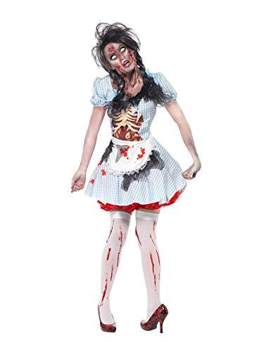 Smiffys Disfraz de chica zombi de Kansas, con vestido, dibujo de látex en el pecho y del ,S