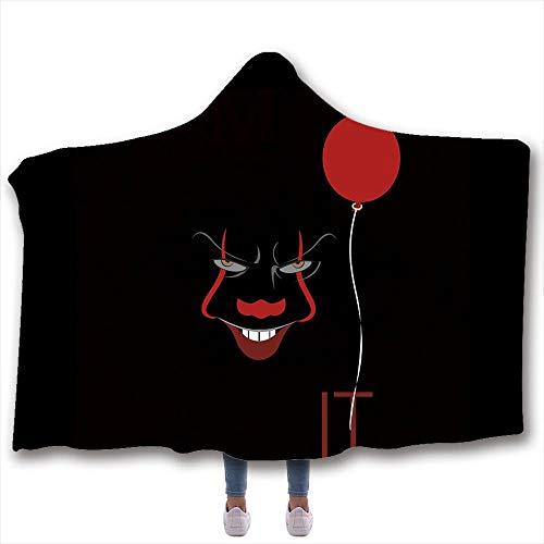 Tomorrowstra - Manta con capucha y capucha para sofá o niño con diseño de Stephen King s It...