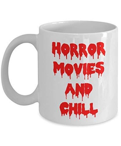 Taza de café de la película de terror, regalo de película de terror, regalo divertido de...