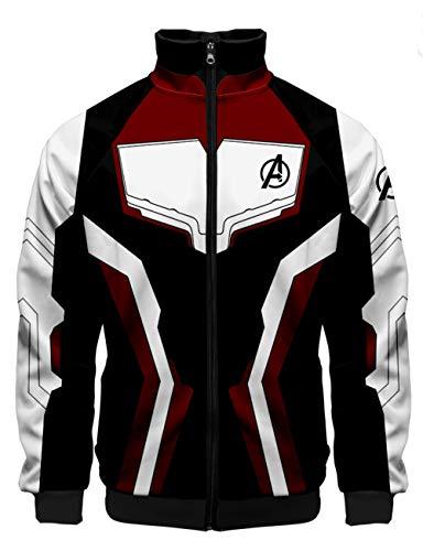 HUASON Avengers Endgame Film Superhero Impresión 3D Sudadera Quantum Ropa de Cine y TV(L)