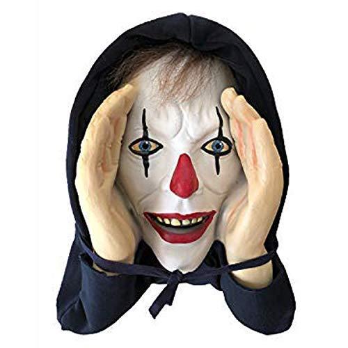 Decoración de Halloween Scary Peeper Payaso Realista de Ventana – Broma de miedo