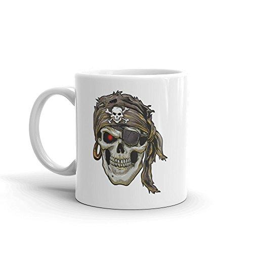 DV Mugs Ltd Taza de té y café diseño de Calavera Pirata de Terror de Halloween #7693