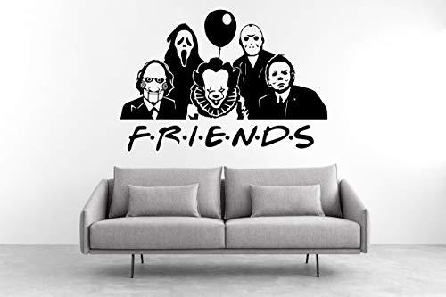 Desconocido Vinilo Decorativo de Cine de Terror Ghostface (Scream) Jason Voorhlees (Viernes 13)...
