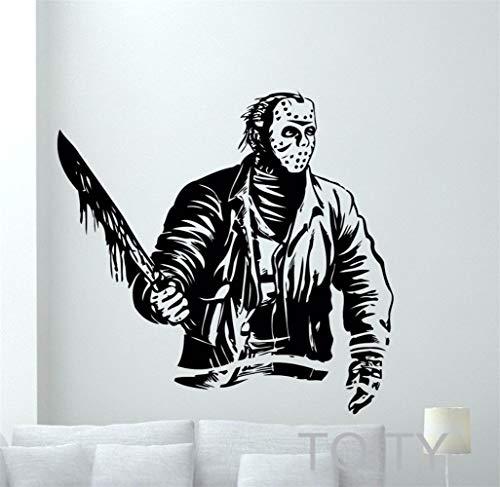 pegatinas decorativas pared Jason Voorhees Películas de terror retro Etiqueta Interior del hogar...