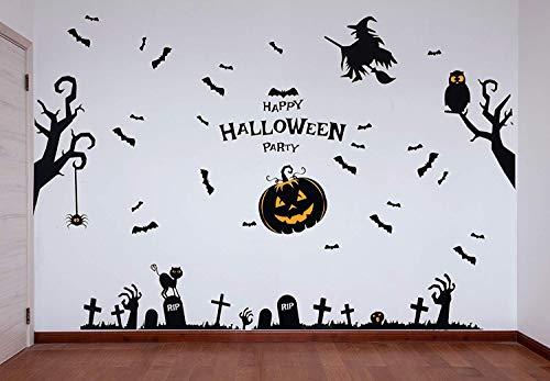 Decoración de Paredes para Halloween - Mural pegatinas Perfecta para decorar fiestas de Halloween -...