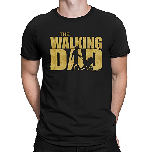 buzz shirts Gift For Fathers - The Walking Dad - Mens Organic Cotton T-Shirt TV Show