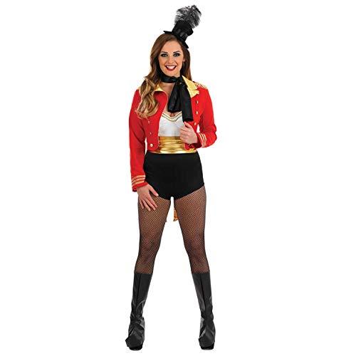 Fun Shack Disfraz de Maestra de Ceremonias para Mujer. Conjunto Rojo de Adulto de Maestro de...