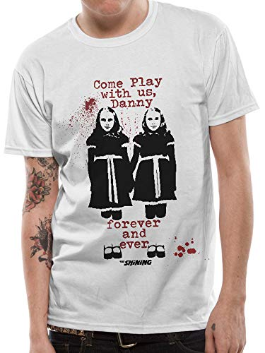 CID The Shining - Come Play Twins Camiseta, Blanco (White White), XX-Large para Hombre