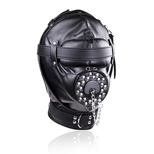 Máscara de fiesta negra para Halloween, juguete de terror.