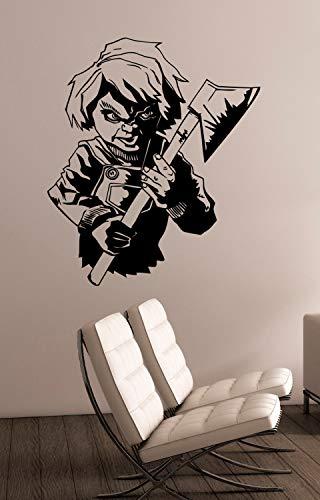 EricauBird Chucky Chucky - Adhesivo de vinilo extraíble para decoración del hogar, habitación,...
