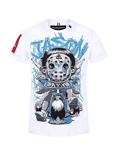 Horspist Jason - Camiseta de manga corta para mujer, color blanco blanco XS