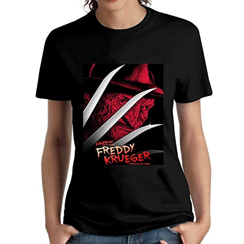 HAIZHENY Mujer Freddy Krueger Face Cotton Camiseta/T-Shirt tee Large