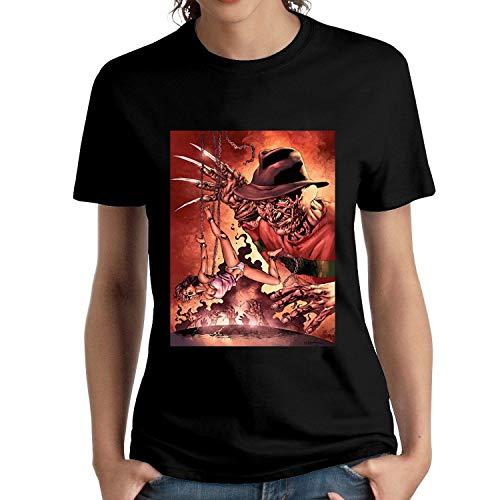 HAIZHENY Mujer Freddy Krueger Art 1 Cotton Camiseta/T-Shirt tee X-Large